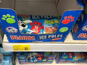 Slush Puppie Ice Lollies x15 - B&M instore - 89p