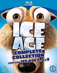 Ice Age 1-3 Collection Blu-ray £3.99  The Entertainment Store/eBay