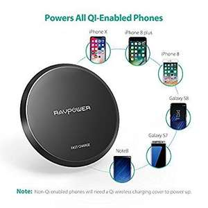 RAVPower Qi Charger 10W Fast Charge- Samsung/iPhone £7.49 Prime (£11.48 non Prime) @ Sold by Sunvalleytek-UK and Fulfilled by Amazon