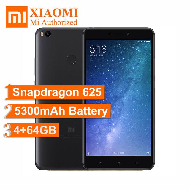 """Original 6.44"""" FHD Xiaomi Mi Max 2 Max2 Snapdragon 625 IMX386 4GB RAM 64GB ROM 4G 5300mAh £149.37 @ aliexpress  Store: Mi Authorized Store"""
