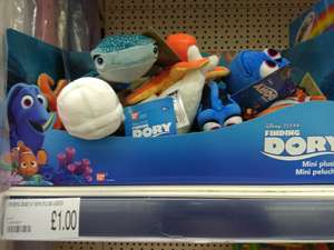 Finding Dory Nemo Plush Toys £1 at Poundworld