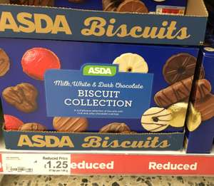 Asda Milk, White & Dark Chocolate Biscuits - 450g £1.25 @ Asda