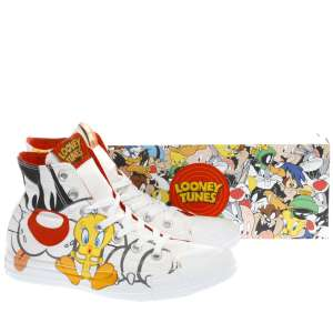 Converse White & Black Slyvester X Tweety Hi Trainers Size 3 & under £34.99 @ Schuh