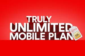 UNLIMITED 4G data, txt and minutes Virgin mobile for £25 (£300 for 12 months)