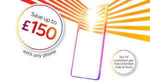 £100 M&S Voucher with any mobile contract taken @ sky mobile