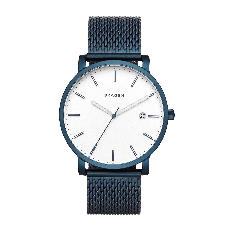 Skagen SKW6326 Men's Hagen Date Bracelet Strap Watch, Navy/White - Watches2u £71.70