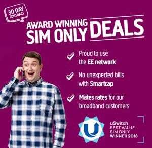 5GB 4G Data - 5000 Minutes - Unlimited Texts - 30 Days Sim - £10 Month @ Plusnet Mobile (uSwitch)