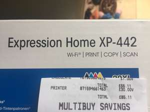 Epson XP-442 wireless printer half price instore Asda Cribbs Causeway, Bristol. - £30