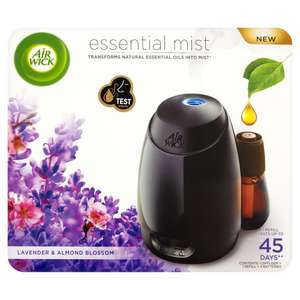 Air Wick Essential Mist Diffuser Kit (Lavender & Almond Blossom) £10 @ Wilko (IN STORE & ONLINE)