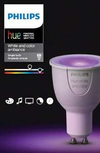 Philips Hue White and Colour Ambience GU10 Spot Light £31.97 @ Amazon