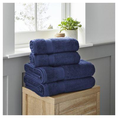 Fox & Ivy 4 Piece Egyptian Cotton Navy Towel Bale @ Tesco Direct £14.00