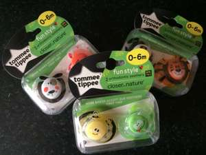 Tommee tippee dummies 2 pack reduced to clear - £1.38 instore @ Boots