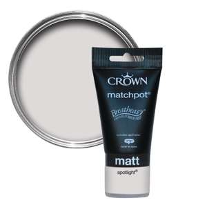 Crown match pot paint tester pots 50p @ Homebase - Stanway, Colchester