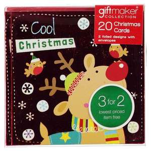 The Spirit Of Christmas Pack of 20 Kids Mini Christmas Cards 25p + £4.99 Delivery/C&C @ Sports Direct