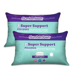 Slumberdown Super Support Pillow - Pack of 4 £18.99 Delivered @ sleepseeker