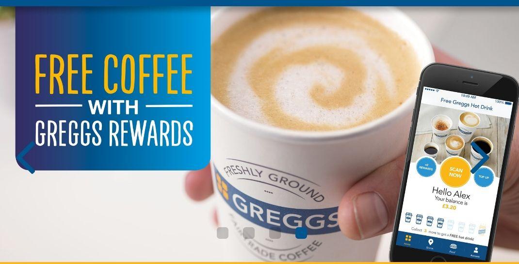 Free coffee treats and surprises @ Greggs Rewards (App)
