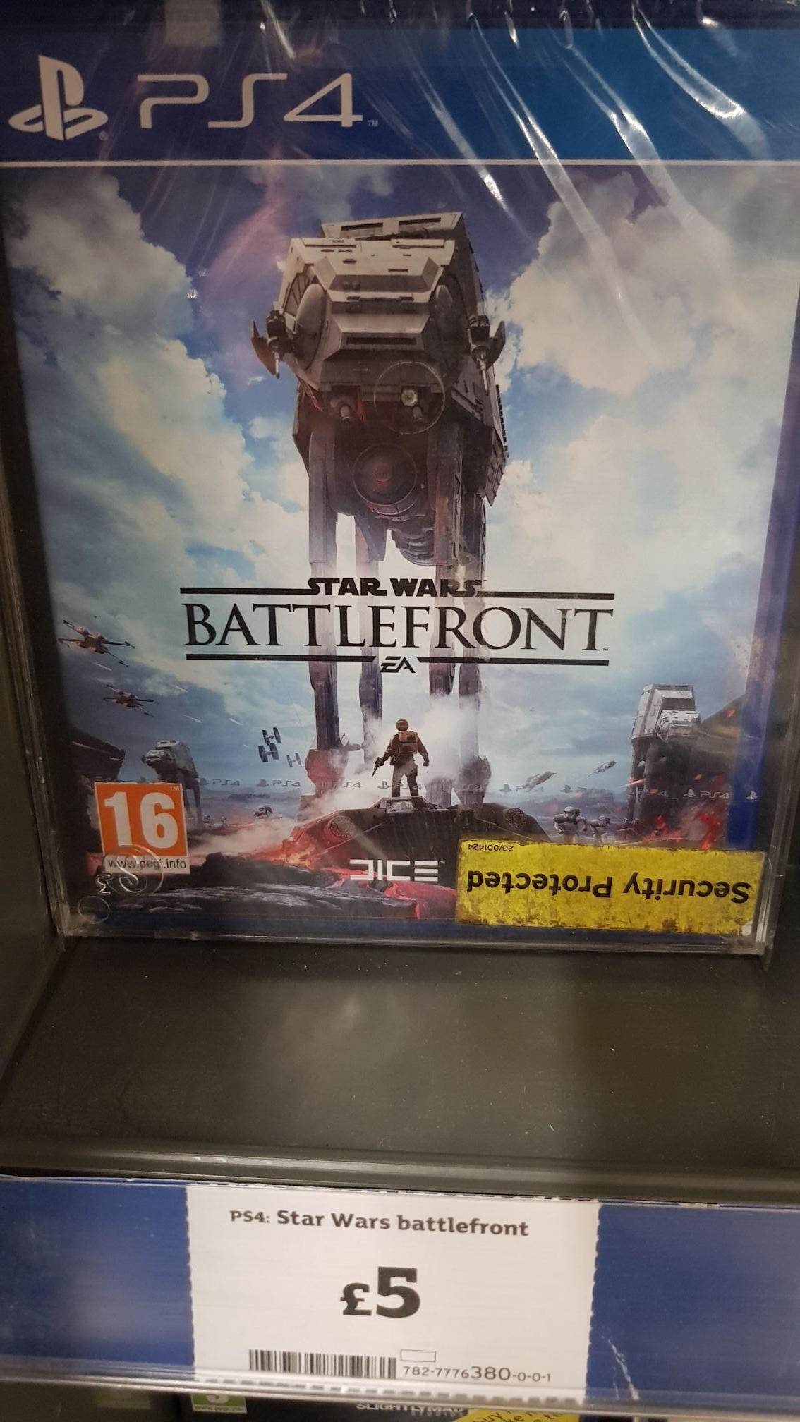 Star Wars Battlefront PS4 £5 @ Sainsbury's - Stirling