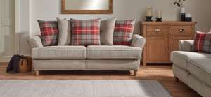 Ludo 3 Seater Sofa Scatter Back £299 @ SCS