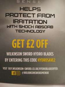 2 pounds off in wilkinson sword hydro blades