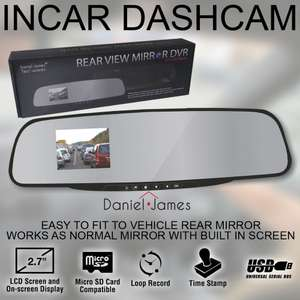 Mirror dashcam £9.99 @ guaranteed4less  Ebay