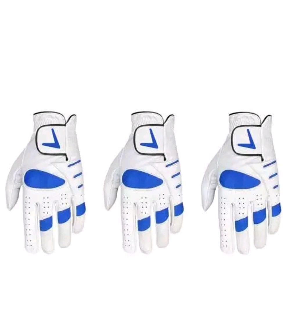 3 Cabretta Leather Golf Gloves £6.99 @  golfglovesrus2013 Ebay