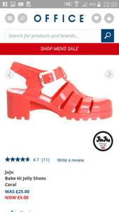 Juju Jelly £5 free Click and collect @ Office Shoes
