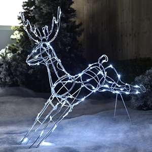 WeRChristmas Jumping Reindeer Silhouette Outdoor Garden Christmas Decoration with 80-LED Lights, 95 cm - Large, Multi-Colour by WeRChristmas amazon prime £17.75 non prime £22.50