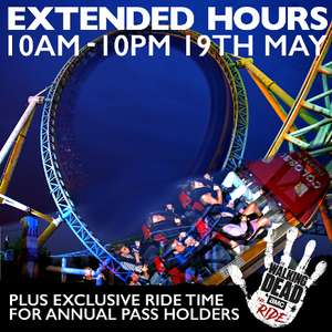 Thorpe Park £10 Ticket 5pm till 10pm
