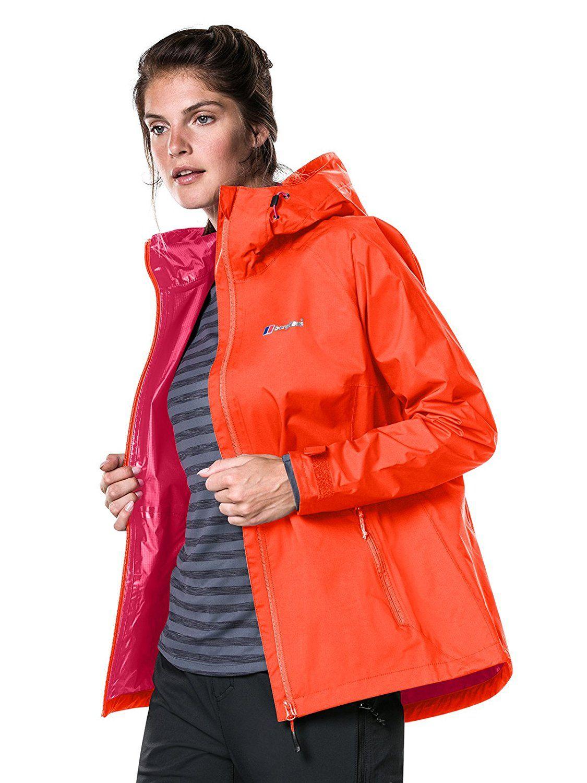 Berghaus Women's Stormcloud Waterproof Jacket (orange, size 14) - £30.36 @ Amazon