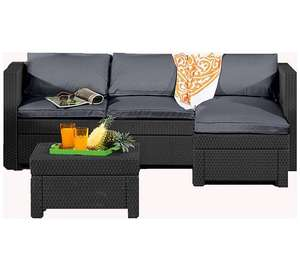 Keter Oxford Rattan Effect Outdoor Corner Sofa - Graphite £206.94 @ Argos