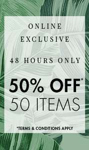 50% Off Selected Womens Fashion inc New Season + Free C+C @ M&Co - prices from £8