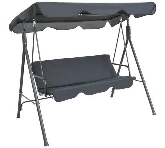 HOME 3 Seater Metal Garden Swing Chair £59.99 + free £5 voucher @ Argos