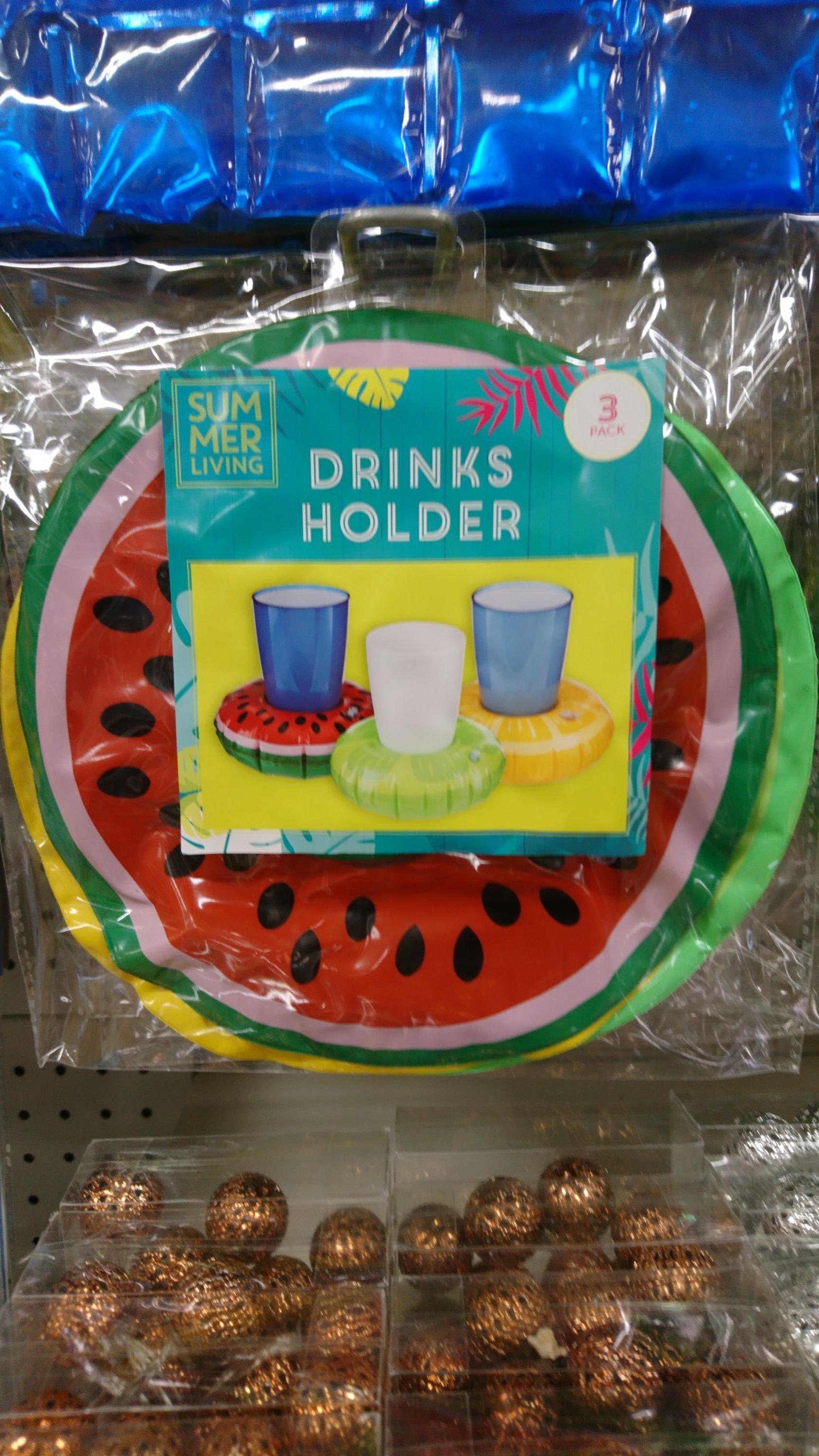 Floating drinks holder for the pool 3pack £1 @ poundland