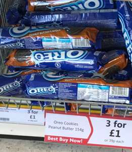 Peanut Butter Oreos 3 packs for £1 at Herons.