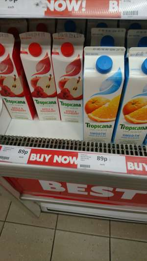 Tropicana smooth orange and apple & raspberry 950ml 89p @ heron foods