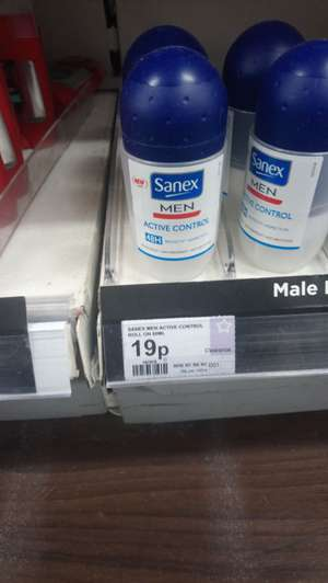 Sanex men roll on deodorant 19p instore @ Superdrug