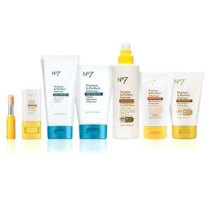 No7 Sun Essentials 7 Piece Collection worth £89.45 now £40 + Get £7 worth of Advantage Card points + Free C+C @ Boots