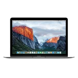 "Apple 12"""" Macbook (Core M 1.1GHz/8GB/256GB SSD) - Space Grey - Apple Certified Refurbished (w/ FREE Chocolate Advent Calendar) £699.99 Delivered at IWOOT"