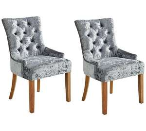 Velvet dining chairs-pair - £215.99 + £6.95 Delivery @ Argos