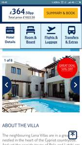 From London Luton or Doncaster: May Half Term 1 Week in Cyprus for Family of 5 or 6 people, Flights, Luggage, 3 Bedroom Villa with Private Pool & Car Hire from £354.50pp @ Tui