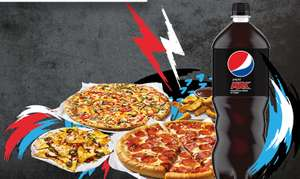 Pizza Hut - Champions league pizza Deal - 2 large pizzas, 1 classic side, 1 any side, and a 1.5 Litre Pepsi - £24.99 + Entry into competition.