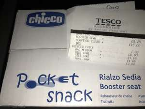Chicco Pocket Snack Booster Seat in Lime Green £9.25 instore at Tesco (Musselburgh)