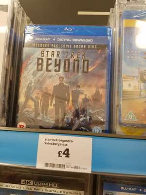 Star Trek Beyond Blu Ray - £4 instore @ Sainsbury's