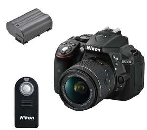 Nikon D5300 DSLR Camera with 18-55mm lens, Remote and Extra Battery £329.99 with code Currys in store collection