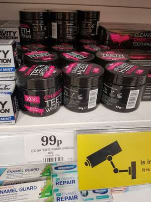 Charcoal teeth whitening powder - 99p @ Home Bargains