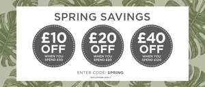 Spend and Save on Fashion and homeware with Code Spring @ The Hut