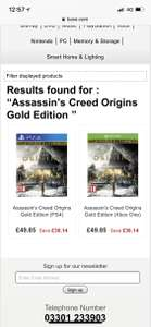 Assassin's Creed Origins Gold Edition PS4 Xbox one £49.85 Base.com