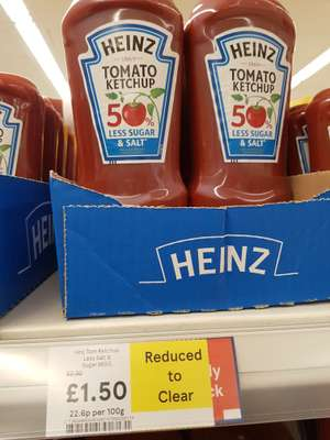 Heinz Tomato Ketchup 665g for £1.50 reduced to clear @ Tesco (Potters Bar)