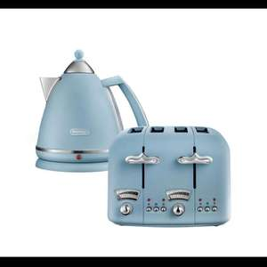 De'Longhi Argento Flora toasters & kettles now half price £29.99 each available in 4 colours @ Argos