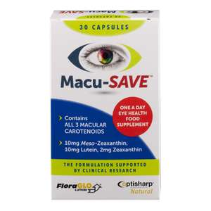 Macusave 30's now £3.00 (RRP £8.49) at Chemist Direct.